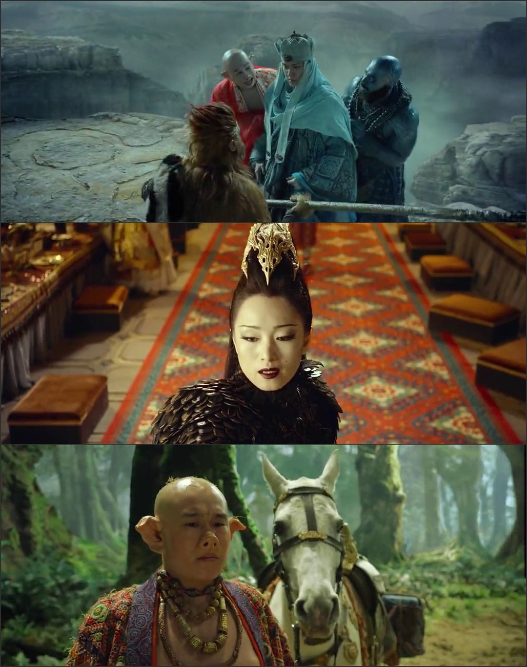Screen Shot Of The Monkey King 2 2016 300MB Full Movie Hindi Dubbed Free Download 480P BRRip Small Size PC Movie