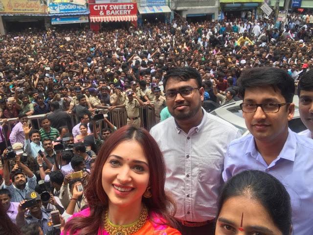 Tamannah Stills at Malabar Gold Store Inauguration In Anantapur
