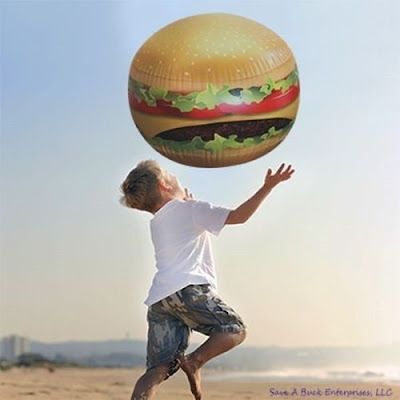 Hamburger Inflatable Beach Ball