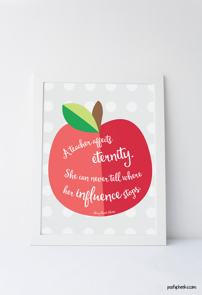 Teacher Quote Free Printable for Teacher Appreciation Week