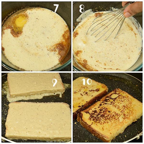 how to make eggnog french toast with homemade eggnog