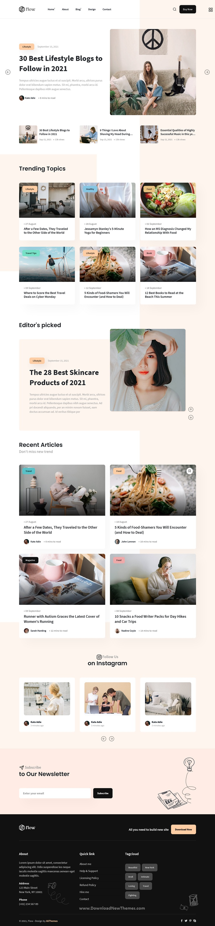 Bootstrap Personal Blog Template