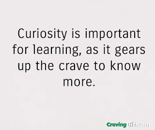 Curiosity is important for learning, as it gears up the crave to know more.