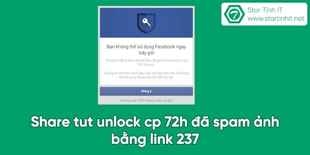 Share tut unlock cp 72h đã spam ảnh bằng link 237