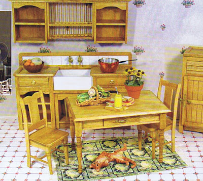 dollhouse miniature country kitchen