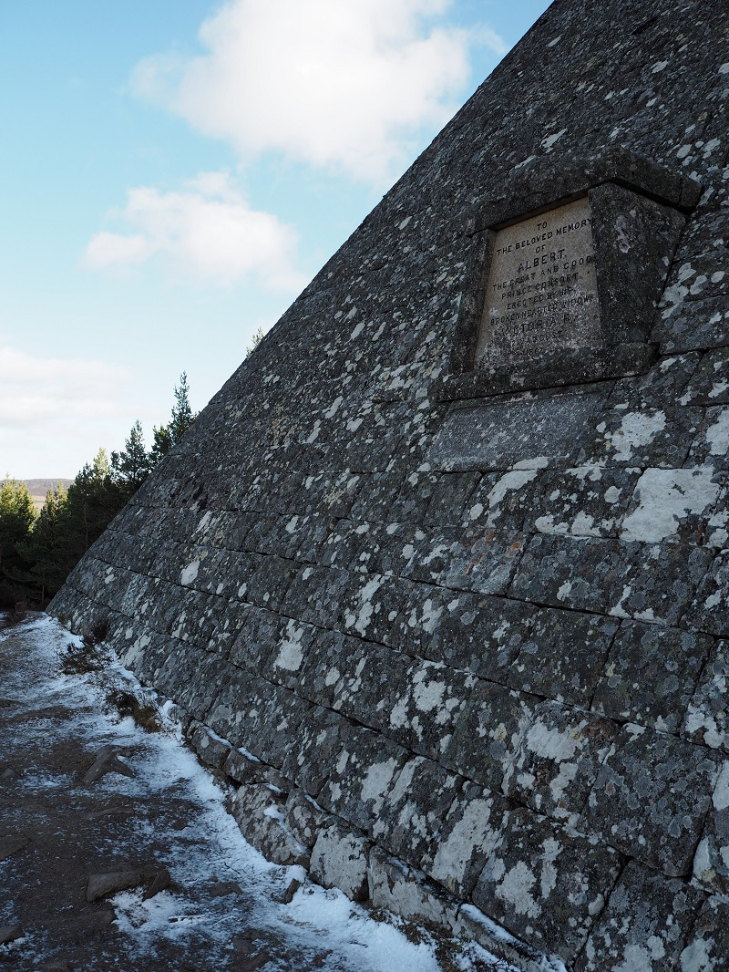 To The Beloved Memory of Albert - Stone script on the Scottish pyramid