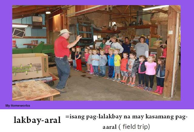 My Homeworks Tambalang Salita Lakbay Aral