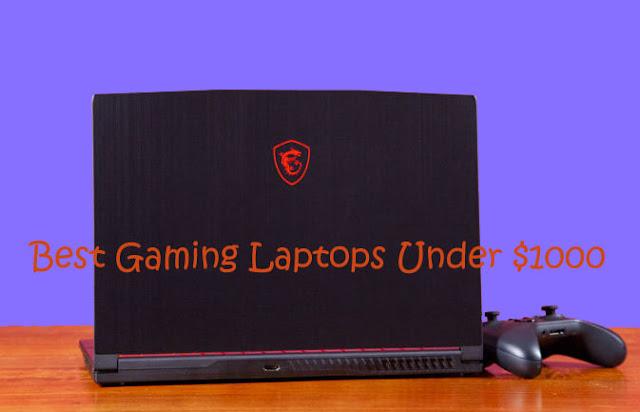 MSI GF63 8RB gaming laptop under $1000