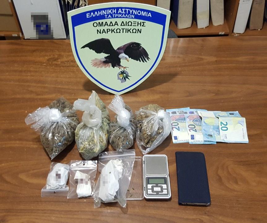 Συνελήφθησαν δύο άτομα στα Τρίκαλα για ναρκωτικά