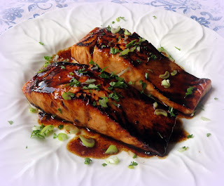 Pan-Seared Salmon with a Sweet & Spicy Asian Glaze