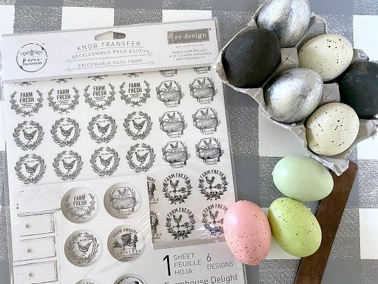Transfers for Farmhouse Easter Eggs