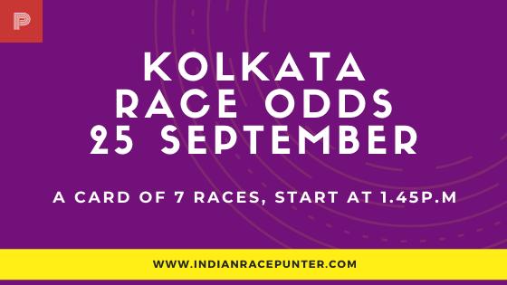 Kolkata Race Odds 25 September