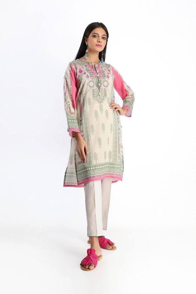 khaadi beige shirt shalwar