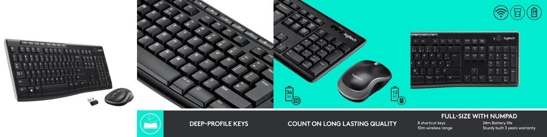 Logitech MK270r Wireless Keyboard and Mouse Combo
