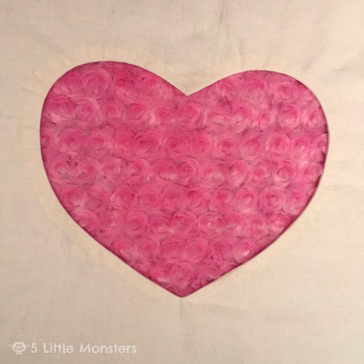 5 Little Monsters Cuddle Heart Cutout Pillow