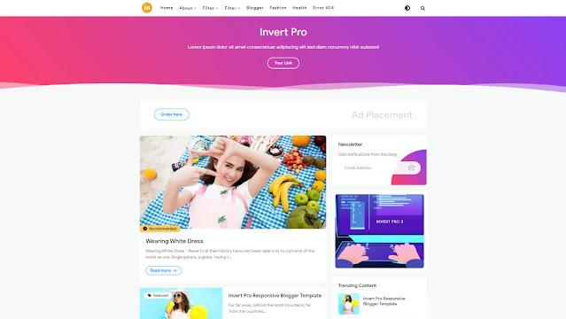 Download Invert Pro Blogger Template