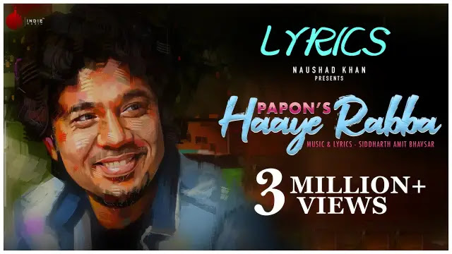 हाय रब्बा Lyrics – Papon Hindi,English,punjabi pdf