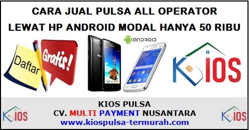 Cara Jual Pulsa Lewat HP Android