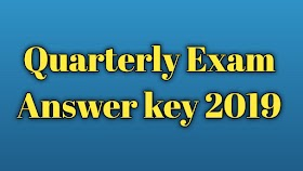 11th STD Biology Quarterly Exam Question paper and answer key 2018