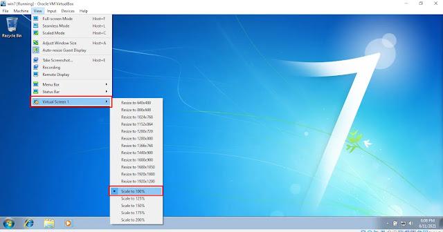 Select Desktop Scale