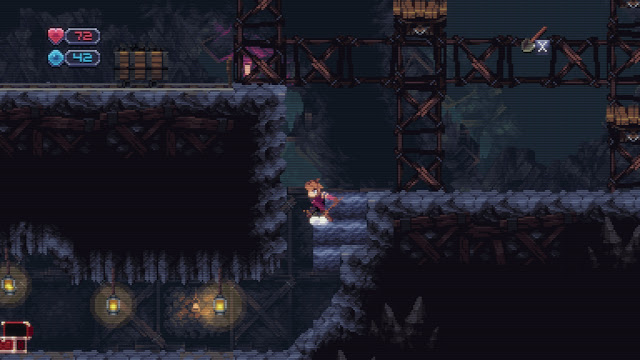 Chasm - the shovel allows you to dig and uncover secret areas!