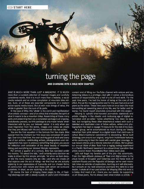 Bike magazine brice minnigh farewell letter.