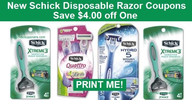 schick hydro disposable razor coupon