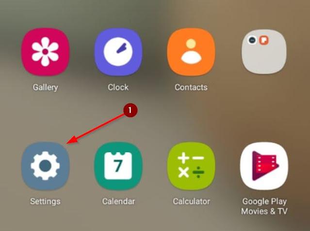 menu settings di android