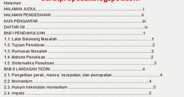 Contoh Daftar Isi Makalah Terbaik Lengkap 2019 Kumpulan Contoh