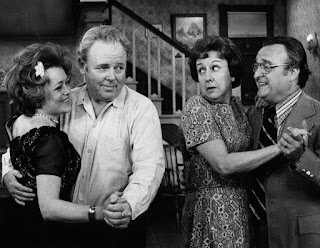 Vincent Gardenia (right) with Rue McClanahan starred with Jean Stapleton (left) and Caroll O'Connor in All in the Family