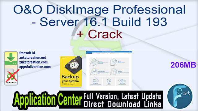 O&O DiskImage Professional – Server 16.1 Build 193 + Crack