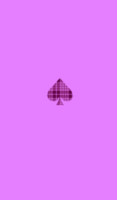 Simple spade pink check