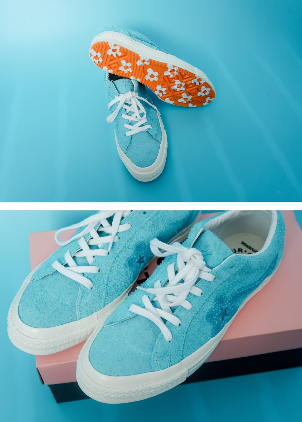 unboxing golf le fleur x converse by Tyler the Creator Video