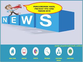 hasil pretest ppg gpai tahun 2019