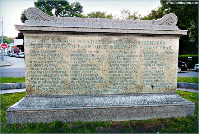 Sarcófago con los restos de los 51 pasajeros del Mayflower