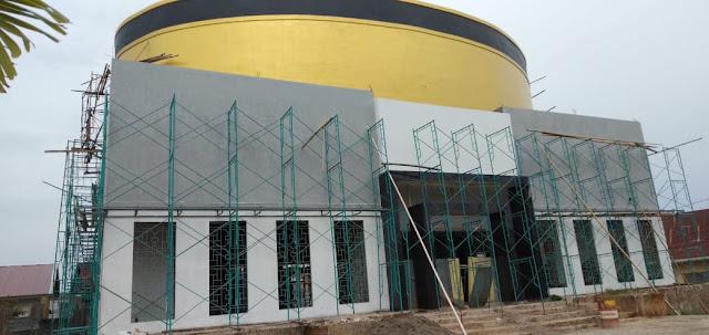 Tanpa Sesenpun Bantuan Dana Pemda, Pembangunan Masjid Songko Recca Bone Terus Dipacu