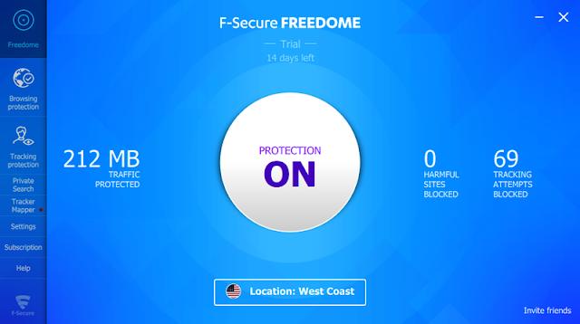 F-Secure Freedome VPN 2.32.6293 Repack - Ẩn danh trên internet