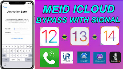 Apple MEID iCloud Bypass With a Signal & SIM Unlock iOS12 to 14.6 With Mina-EMC-iRemove-Checkm8.