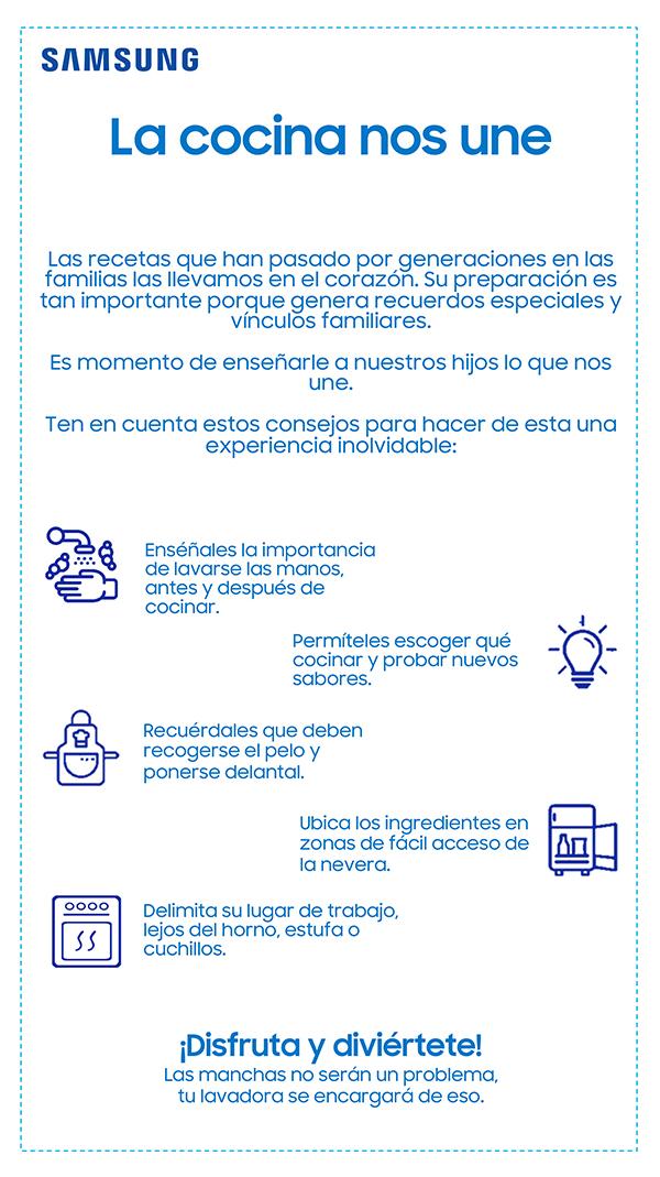 infografia-samsung-cocinar-ninos-forma-enseñarles-valores