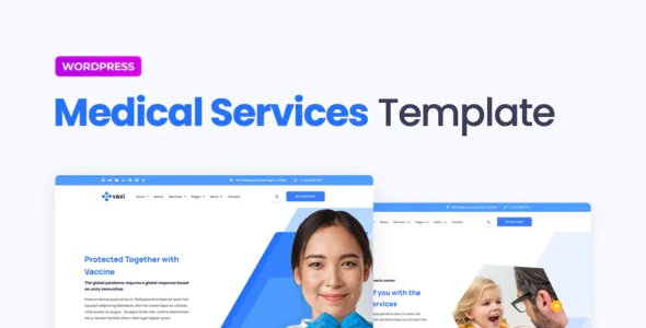 Best Covid-19 Vaccination & Health Services Elementor Template Kit