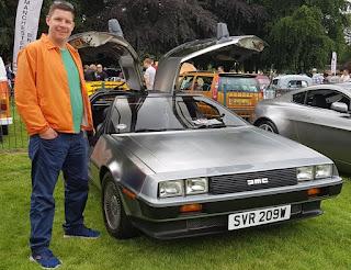 A DMC DeLorean at the Didsbury & South Manchester Car Show