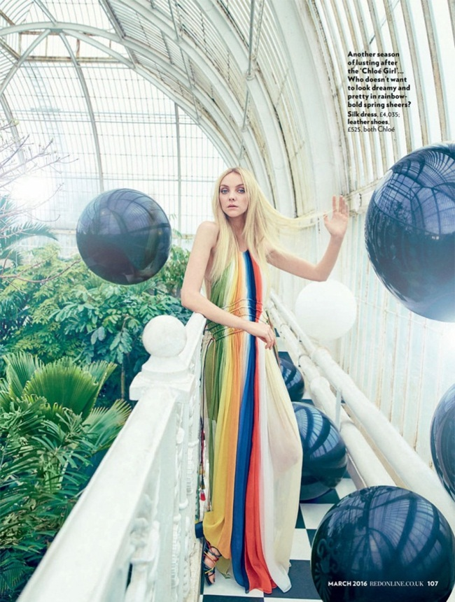 2016 SS Chloé Rainbow Dress 20 Looks
