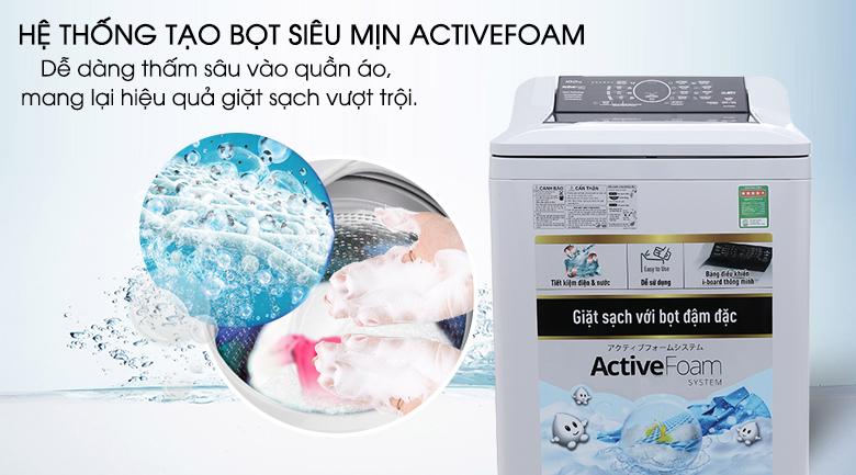 Hệ thống Active Foam - Máy giặt Panasonic 10 kg NA-F100A4GRV