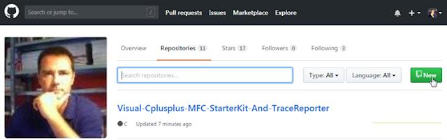 Github création d'un nouveau Repositorie
