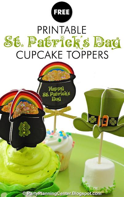 Irish cupcake toppers