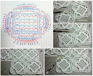 How to join the crochet square motif