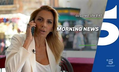 Simona Branchetti conduttrice Canale cinque morning News