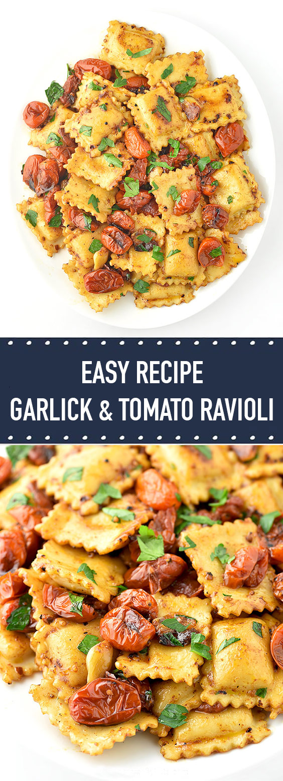 Easy Garlic and Tomato Ravioli Recipe