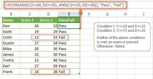 Sử dụng nhiều hàm If trong Excel (các hàm if lồng nhau)