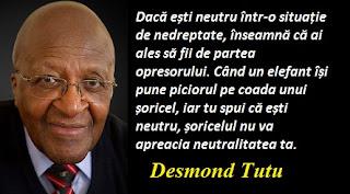 Citatul zilei: 7 octombrie - Desmond Tutu